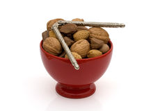 A bowl oh healthy mixed nuts Royalty Free Stock Images