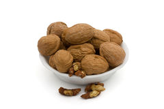 A bowl oh healthy walnuts Stock Photos