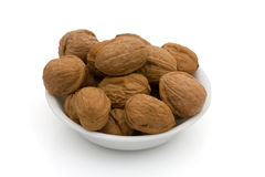 A bowl oh healthy walnuts Stock Images