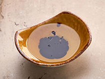Bowl of oil and balsamic vinegar Royalty Free Stock Images