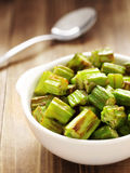 Bowl of okra Royalty Free Stock Images