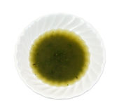 Bowl of olive oil and thyme seasoning Royalty Free Stock Image
