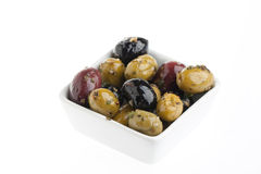 Bowl with olives Royalty Free Stock Images