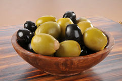 Bowl of olives Royalty Free Stock Photo