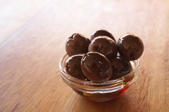 Bowl of olives Royalty Free Stock Images