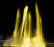 Bowl of the Olympic flame in Sochi. In the light of night lights and a musical fountain Stock Photo