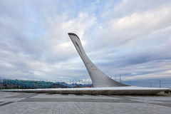 Bowl of the Olympic flame in Sochi. Russia Royalty Free Stock Images