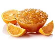 Bowl of orange jam Royalty Free Stock Photography