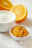 Bowl of orange jam Royalty Free Stock Images
