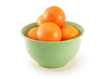 Bowl of oranges Stock Images