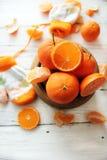 Bowl of oranges Stock Image