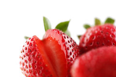 A bowl of organic fresh strawberries Royalty Free Stock Photos