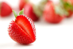 A bowl of organic fresh strawberries Stock Photo