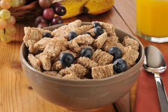 Bowl of organic wheat cereal Stock Image