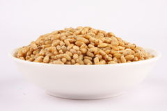 Bowl of Organic wheat. Selective focus photograph Royalty Free Stock Images