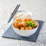 Lemon Chicken and Rice Stock Photo