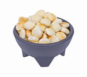 Bowl of Oyster Crackers Front View Royalty Free Stock Photo