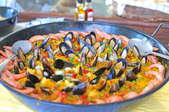 Bowl of paella Royalty Free Stock Image