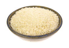 Bowl of panko flaked bread crumbs Stock Image