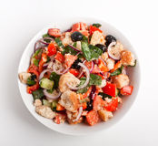 Bowl of Panzanella bread salad Royalty Free Stock Photography