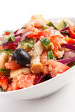 Bowl of Panzanella bread salad Royalty Free Stock Photo