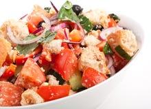 Bowl of Panzanella bread salad Royalty Free Stock Photo