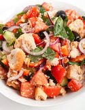 Bowl of Panzanella bread salad Stock Image