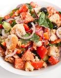 Bowl of Panzanella bread salad Stock Image