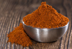Bowl with Paprika Powder Stock Images