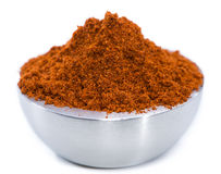 Bowl with Paprika Powder (on white) Stock Photography
