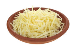 Bowl of Parmesan cheese Stock Images