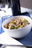Bowl of Pasta with Mushrooms Royalty Free Stock Image