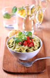 Bowl of pasta salad Royalty Free Stock Image