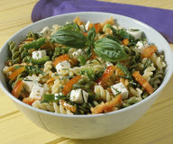 Bowl of pasta salad. Food, gastronomy, cooking,cookery Royalty Free Stock Images