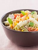 Bowl of pasta salad Stock Photo