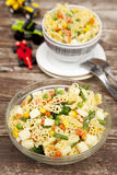 Bowl of Pasta Salad Stock Image