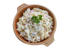 Bowl of pasta salad Stock Image