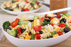 Bowl of Pasta Salad Stock Photography