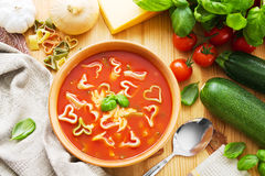 Pasta soup Stock Photo