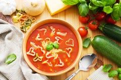 Pasta soup stock photo