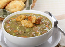 Bowl of Pea Soup Stock Images