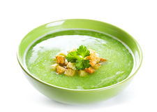 Bowl of pea soup Royalty Free Stock Image