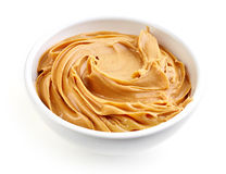 Bowl of peanut butter Royalty Free Stock Photography