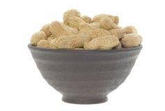 Bowl of peanuts Stock Photo