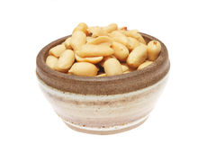 Bowl of peanuts Stock Image