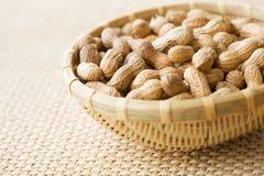 Bowl of peanuts, close-up Stock Image