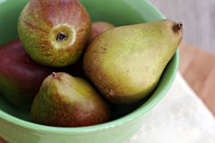 Bowl of Pears Stock Image