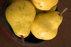 Bowl Of Pears Stock Photos