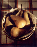 Bowl of Pears Stock Images