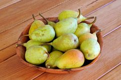 Bowl of pears. Royalty Free Stock Images